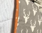 Custom Quilt Lovey // Deer Print and Minky