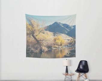 Kern river photograph mountains tapestry mountains photograph Kern river wall tapestry boho wall art home decor wall hanging sofa throw
