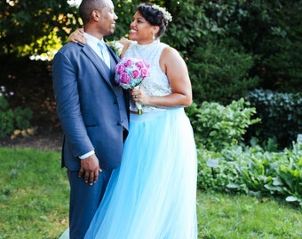 Full length tulle skirt with lining , maternity skirt, photo prop, adult tulle skirt,Wedding skirt, bridal skirt,bridesmaids,flower girl