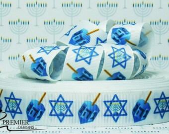 "7/8"" Hanukkah Grosgrain Ribbon"