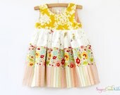 SALE Summer Days Tiered Dress, Girl's Sizes 12-18mo, 2T, 3/4T, 5/6