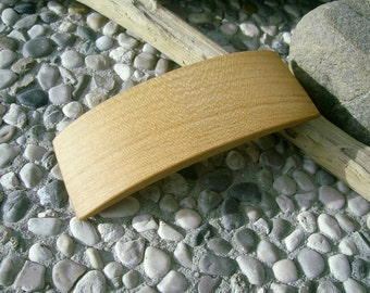 Wood HAIR BARETTE - From CHERRY wood Handcrafted Wooden Hair Barette