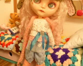 Blythe Cute Bloomers, Top & Accessories  (BD19516)