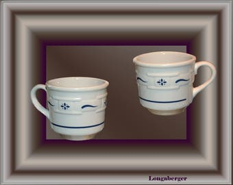 Longaberger Cups Set of Two
