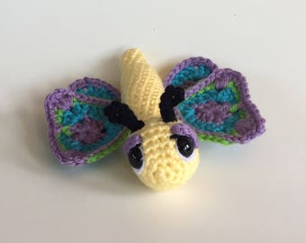Handmade Butterfly Amigurumi - crocheted Butterfly - Butterfly plushie - Made To Order