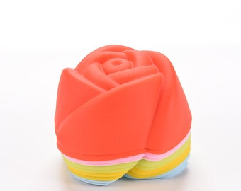 Silicone Soap Mold: Rose Mold, Flower Mold, Cupcake Mold, Flower Soap Mold, Rose Soap Mold, SIlicone Soap, 2oz Soap Mold,  Flowers, MOL004