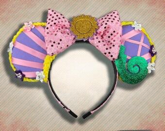 Rapunzel Mouse Ear Headband with Bow