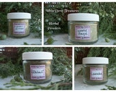 HERBAL POWDERS 1oz Jar/Refill Choice - White Sage ~ Patchouli ~ Lavender ~ Lemongrass ~ Fresh Ground Incense