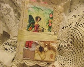 Jane Austen Junk Journal With Lots Of Pockets and Coffee  Stained  Pages Lots Of Journaling Cards Some sewing On Cards