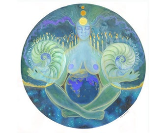 Equilibrium Gaia Maternity Art Original Art