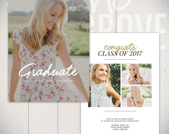 Graduation Announcement Template: Visionary Card C - 5x7 Senior Card Template