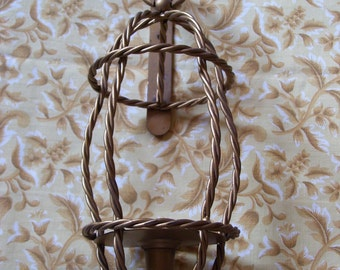 Twisted Metal Candle Sconce from HOMCO
