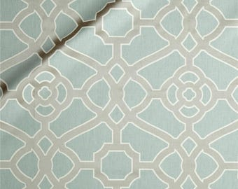 Pair of Custom Curtains, P/Kaufmann Burnished Tile Chintz Haze,fabric 50x84 at this price, any size is available