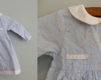 Dainty Floral cotton dress Peter Pan Collar 90s Tommy Hilfiger Baby Girls 6-12M