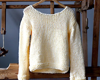 Chunky Lemon Yellow Sweater= RESERVED for LISA