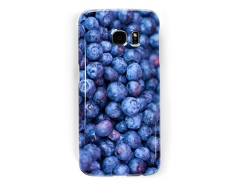 Gifts for Foodies Blueberries Samsung Galaxy or Samsung Galaxy Edge Case for Galaxy S7, Galaxy S6, Galaxy S5, Galaxy S4, or Galaxy S3