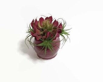 Faux Succulent Arrangement, Small Succulents, Home Decor, Succulent Decor, Small Arrangements