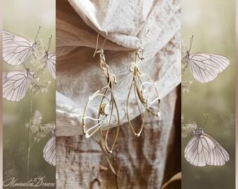 Faerlïa Libellula Moonstone Art Earrings