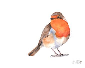 Robin Original Watercolor Painting, Original paintin of robin, Original bird watercolor, Original bird painting