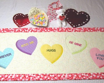Sweet Hearts  -  Table Runner/Wall Hanging - PATTERN ONLY