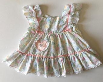 1980's Pastel Flutter Dress (2t)