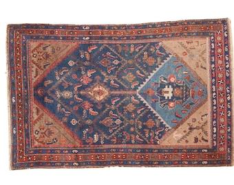 4x6 Vintage Kurdish Hamadan Rug