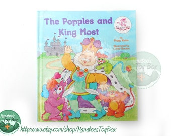 Vintage Popples Book: The Popples and King Most 1980s Kids Book