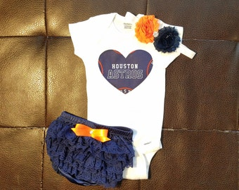 Boutique Astros Bloomers Set