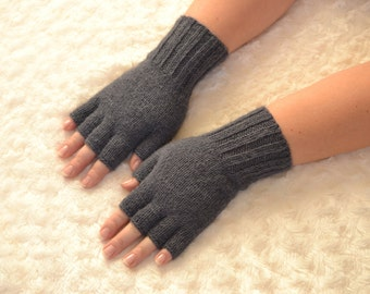Hand knitted alpaca half finger gloves,alpaca gloves,handmade half finger gloves,women's winter gloves,alpaca arm warmers,knit alpaca gloves
