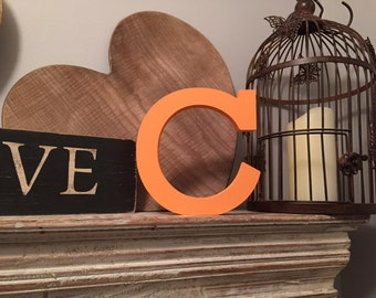 Hand-painted Wooden Letter C - Freestanding - Rockwell Font - Various sizes, finishes and colours