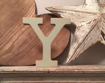 Hand-painted Wooden Letter Y - Freestanding - Rockwell Font - Various sizes, finishes and colours