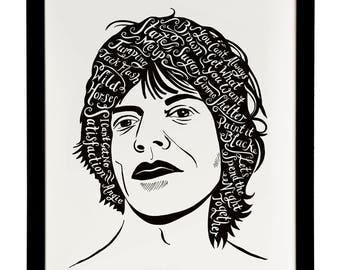 Mick Jagger, British Musician print
