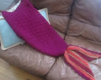 Crochet Seaside Mermaid Blanket