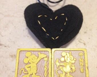 Mickey and Minnie Mouse Disney photo holder Valentine's Day gift Disney wedding birthday gifts vintage decor