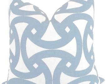 Trina Turk Sky Blue Santorini Indoor Outdoor Pillow Cover, Schumacher, 18x18, 20x20 or 22x22 or lumbar pillow