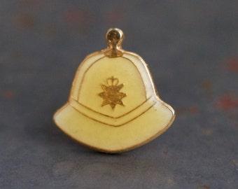 Tiny Bobby Hat Lapel Pin - Miniature England Police Helmet Badge