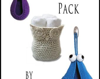 Crochet Pattern-- Kid's Basket Pattern Pack --Crochet Pattern