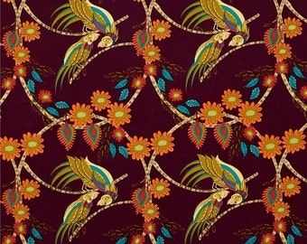 58102 - Kathy Doughty Flock Ring around Medallion  in contemporary color pwmo006-  1 yard