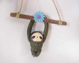 ooak Hand-made sloth ornament 53