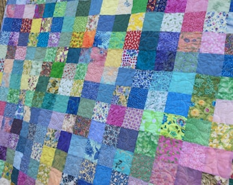 Spring Quilts - Queen size Quilts - Wedding Gift - Traditional Patchwork Quilts - Easter Quilts - Mother's Day Gifts - Quilts for Mom -8