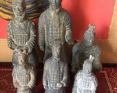 Asian clay soldiers collection. Interior design