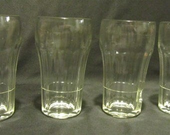 Small Old Fashioned Soda Fountain or Juice Glasses Set of 4