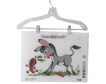 Cross Stitch Pattern Canvas Donkey Scared Carrot Cartoon Margot Made in France