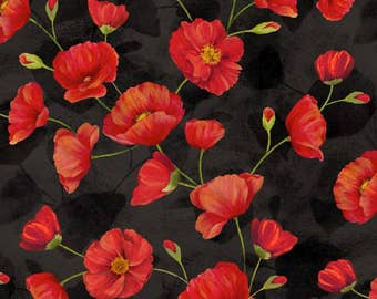 Poppy Celebration - Trailing Poppies by Cynthia Coulter from Wilmington Prints