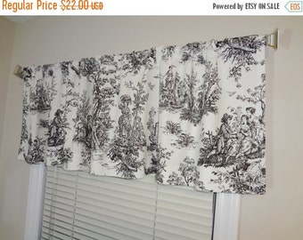 Unique Black White Valance Related Items Etsy