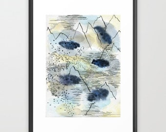 Printable wall art. Printable Watercolor. Abstract printable art. Download print. Art download. Printable downloads. Wall art printable.