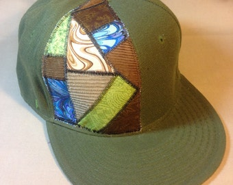 Steal your Shakedown - patchwork fitted hat size 8