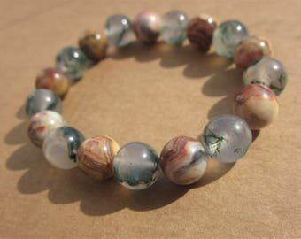 Moss Agate Crazy Lace Agate Bracelet: There is a Time for everything.