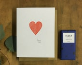 I love you card - letterpress card - anniversary card - valentines day card for him - card for him