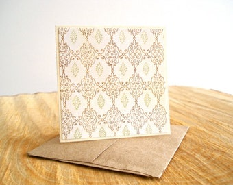 Ivory And Brown Gift Enclosure Cards, Ivory Mini Note Cards, Tiny Greeting Cards, Gift Enclosures, 8 Gift Notes, Petites Cartes